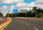picture of m4  - M4 Motorway to Galway from Dublin Ireland - JPG