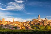 Siena Town, Panoramic View Of Ancient City In The Tuscany Region Of Italy, Europe. poster