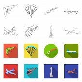 Isolated Object Of Transport And Object Symbol. Collection Of Transport And Gliding Stock Vector Ill poster