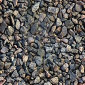 Seamless Texture. Crushed Granite And Pebble Gravel Of Gravel In Hdr Mode For Game Design. poster
