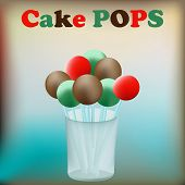 picture of cake pop  - Cake Pops background with confectionary in a glass jar - JPG