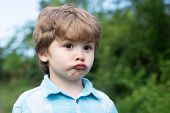 Sad Boy. Emotional Baby. Emotions On The Face. Facial Sadness. Emotional Intelligence. Childrens Fru poster