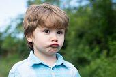 Sad Boy. Emotional Baby. Emotions On The Face. Facial Sadness. Emotional Intelligence. Childrens Fru poster