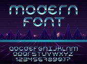 Color, Bright Font In The Old Style. Vector, Vintage Alphabet. Style 80 S, 90 S Retro Posters. Color poster