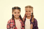Trendy Girls. Sisters Family Look Outfit. Dress Similar With Best Friend. Dress To Match Your Friend poster