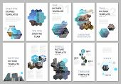 Creative Social Networks Stories Design, Vertical Banner Or Flyer Templates With Hexagones And Hexag poster