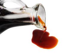stock photo of soy sauce  - soy sauce isolated on the white background - JPG