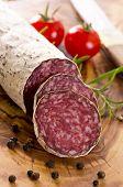 picture of deer meat  - cervine salami - JPG