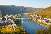 foto of moselle  - Cochem on the Moselle River  - JPG