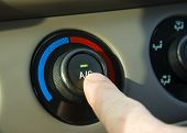 picture of air conditioner  - Turning on the AC in a hot car - JPG