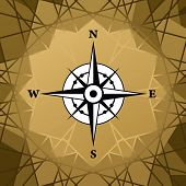 picture of cartographer  - Vector compass - JPG