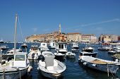 The harbor of Rovinj city, Croatia