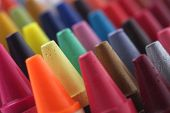 foto of blunt  - Colorful pastel(crayon) pencils tips for children and others used for kids drawing & coloring arranged attractively in rows and columns making a stunning display of colors