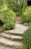 Stone Walkway And Stairs