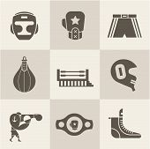 image of boxing ring  - Vector Boxing icons - JPG