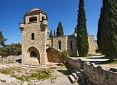 stock photo of filerimos  - Filerimos monastery and archeological site Rhodes island Greece - JPG