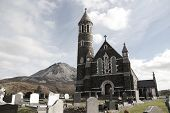 Church Of The Sacred Heart, Dunlewey With Errigal Mountains