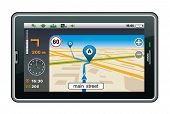 picture of cartographer  - GPS navigator on a white background - JPG