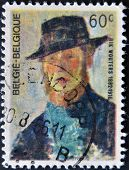 Belgium - Circa 1966: A Stamp Printed In Belgium Shows A Self Portrait Of Rik Wouters, Circa 1966