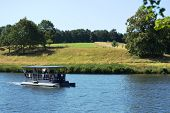 Tourist boat at Leeds Castle