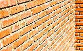 Red Bricks Wall Background.