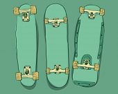 Skateboards set