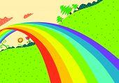 Постер, плакат: Rainbow Lanscape