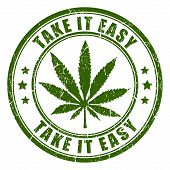 foto of rastaman  - Cannabis rastaman vector stamp isolated on white background - JPG