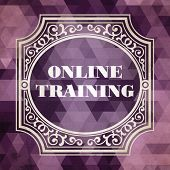Online Training. Vintage Design Concept.