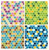 foto of mayhem  - The set of geometric backgrounds made out of hexagons - JPG