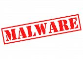 picture of malware  - MALWARE red Rubber Stamp over a white background - JPG