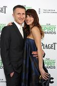LOS ANGELES - MAR 1:  Scott Campbell, Lake Bell at the Film Independent Spirit Awards at Tent on the