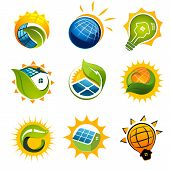 SET OF SOLAR Technology vector elements
