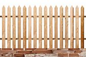 Fir Wood Simple Isolated Fence