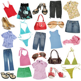 image of mini-skirt  - Different female clothes - JPG