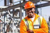 pic of substation  - african electrical worker in electric substation - JPG