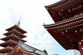picture of shogun  - Asakusa area where the old temple is located Tokyo Japan - JPG