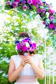 pic of dowry  - Bridesmaid with a wedding bouquet - JPG