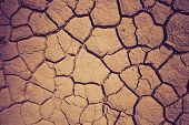 stock photo of drought  - Dry soil during the drought - JPG