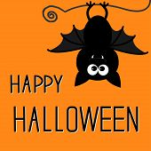 stock photo of happy halloween  - Cute bat - JPG