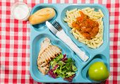 picture of loin cloth  - Tray of food for school to meals - JPG