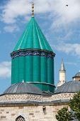 stock photo of rumi  - Mevlana museum mosque in Konya - JPG