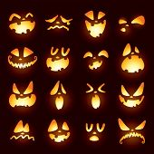 pic of face painting  - Jack O Lantern faces - JPG