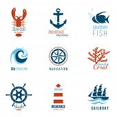 image of lobster boat  - 9 sea theme logo templates - JPG