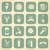 picture of drawing beer  - Retro beer icons set - JPG
