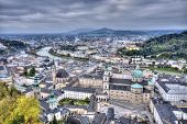 picture of mozart  - City of Salzburg from the fortress in Austria - JPG
