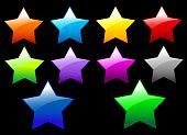 Постер, плакат: Простой блестящие звезды кнопки