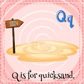 foto of quicksand  - Illustration of a letter Q is for quicksad - JPG