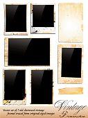 Постер, плакат: Коллекция марочных фоторамки торгуются от оригинального возрасте фотографии
