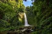 stock photo of waterfalls  - Nung nung waterfall in Bali Indonesia - JPG